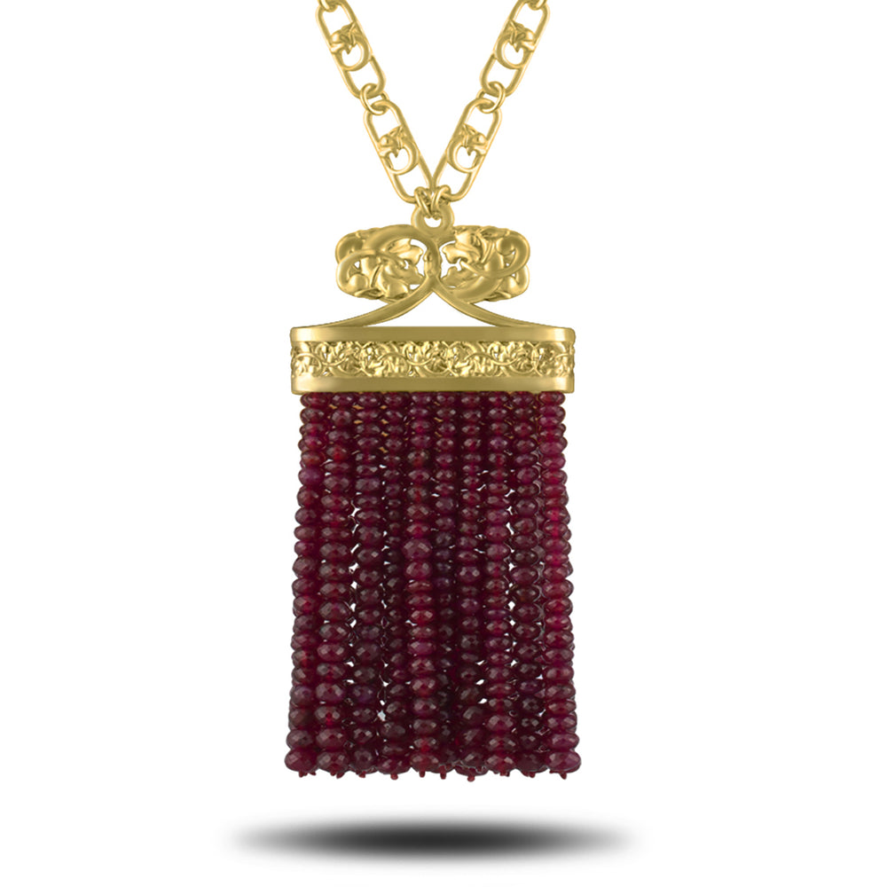 Load image into Gallery viewer, Tumbling Hound Ruby Pendant