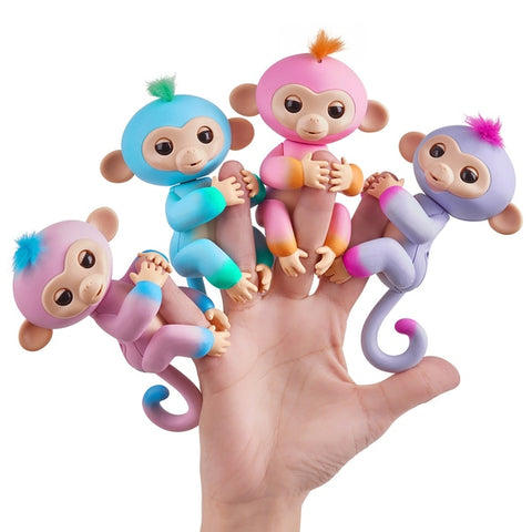 Fingerlings Baby Monkey - Summer (Pink with Orange accents) sormiapina