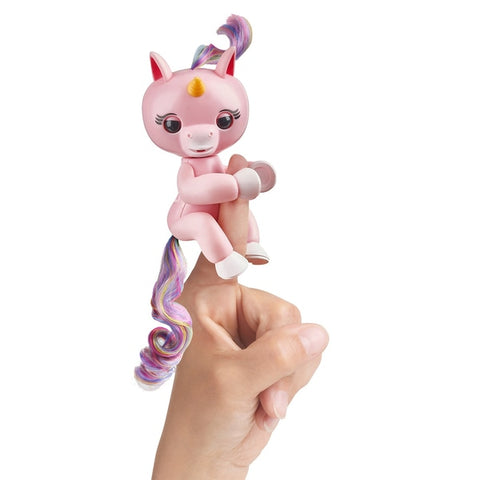 Fingerlings Baby Unicorn - Gemma (Pink with Rainbow Mane and Tail) sormilelu