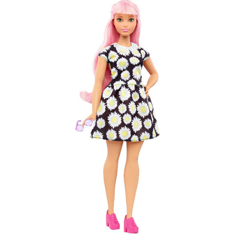 Barbie Fashionistas Curvy Pink Haired nukke