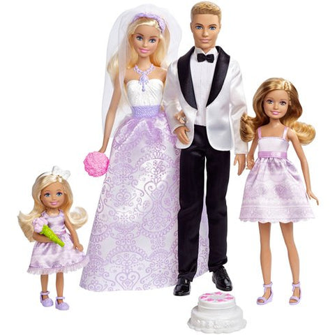 Barbie Wedding leikkisetti: Barbie, Ken, Stacie ja Chelsea nuket
