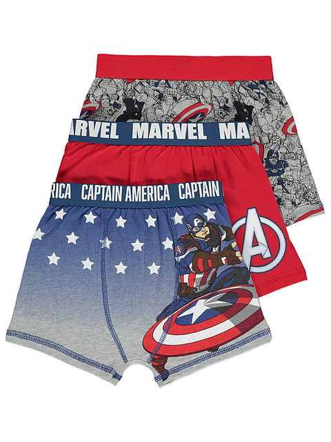 Poikien Marvel Captain America bokserit