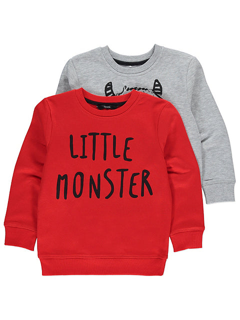 Lasten Little Monster collegepaita 2 pack