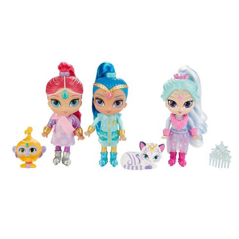 Shimmer ja Shine Winter Wishes nuket leikkisetti