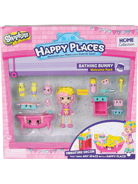 Shopkins Happy Places Welcome Pack-Bathing Bunny leikkisetti