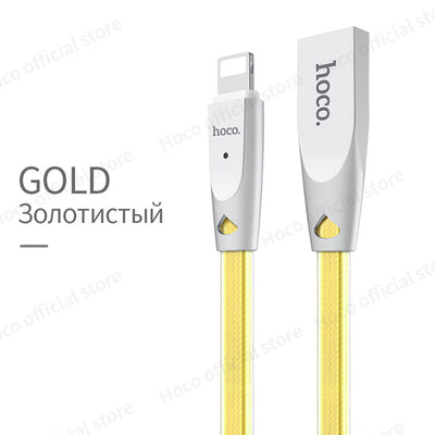 HOCO Original Zinc Alloy Jelly Knitted Charging Cable for Apple Lightning to USB Metal Charger