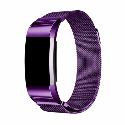 CRESTED Milanese Loop For Fitbit Charge 2 Band Stainless Steel Smartwatch