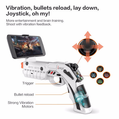 iPega PG-9082 Bluetooth Game Gun AR Gamepad Wireless with Game Controller