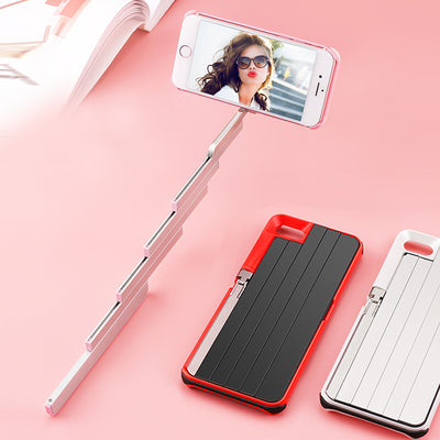 Mobile phone shell one multifunctional telescopic self-timer 3 in 1 Bluetooth Selfie stick Phone Case