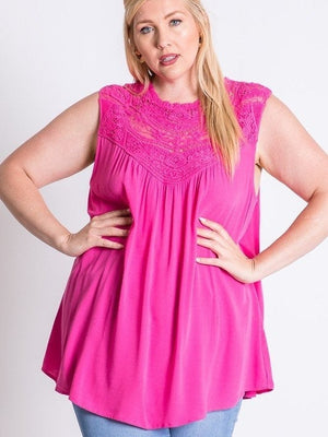 Perfect in Pink Lace Detail Top