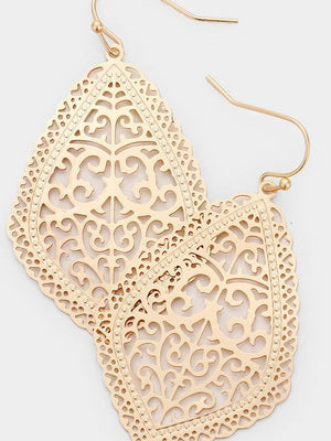 Metal Filigree Earrings
