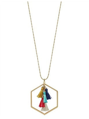 A Bright Spot Tassel Necklace