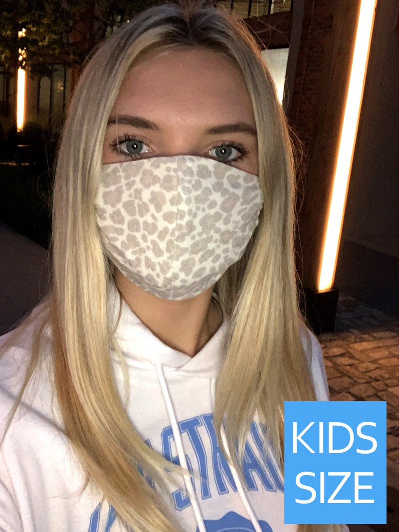KIDS Cheetah Beige Face Mask