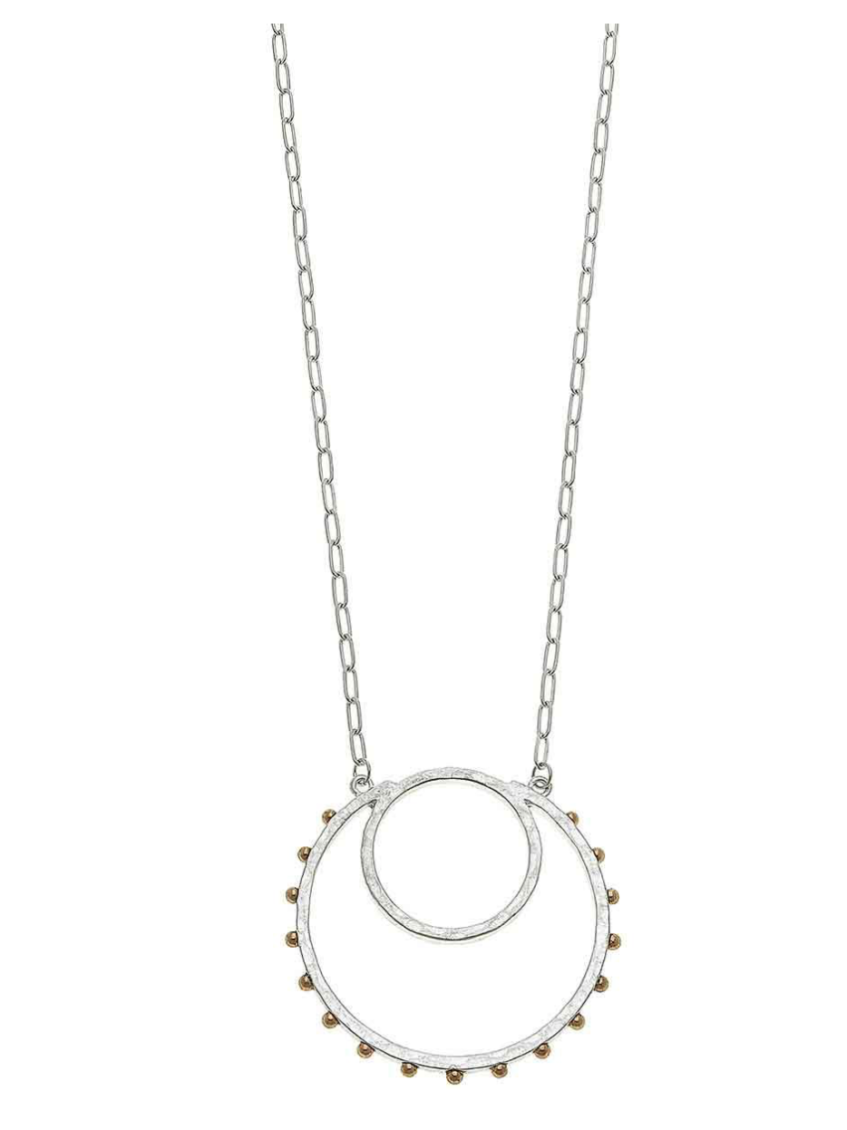 Josie Pendant Necklace Two Tone 21635N-SL
