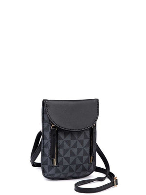 An Unexpected Turn Crossbody, Black/Black