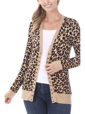 Just Go With It Leopard Cardigan