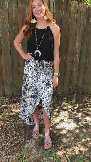 Lost in You Leopard Print Skirt
