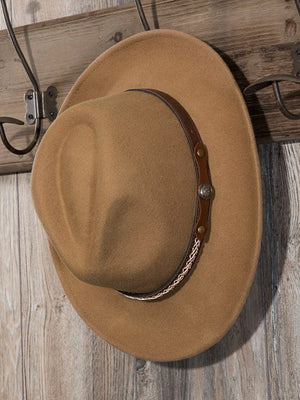 Never Alone Banded Hat, Pecan