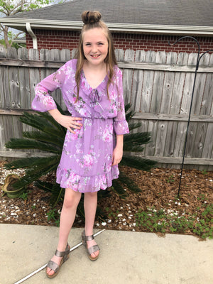 Lavender Floral Dress
