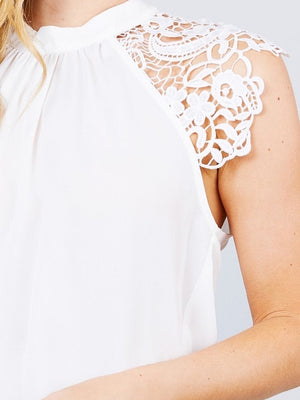 Fancy Girl Top-White