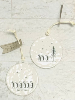 Porcelain Bubble Christmas Ornaments