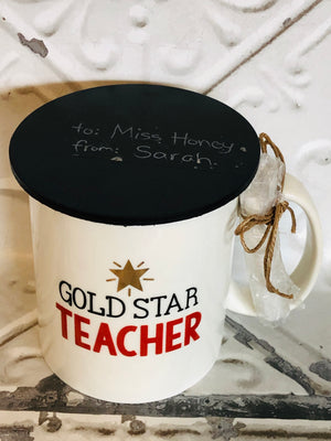 Gold Star Teacher Chalk Mug