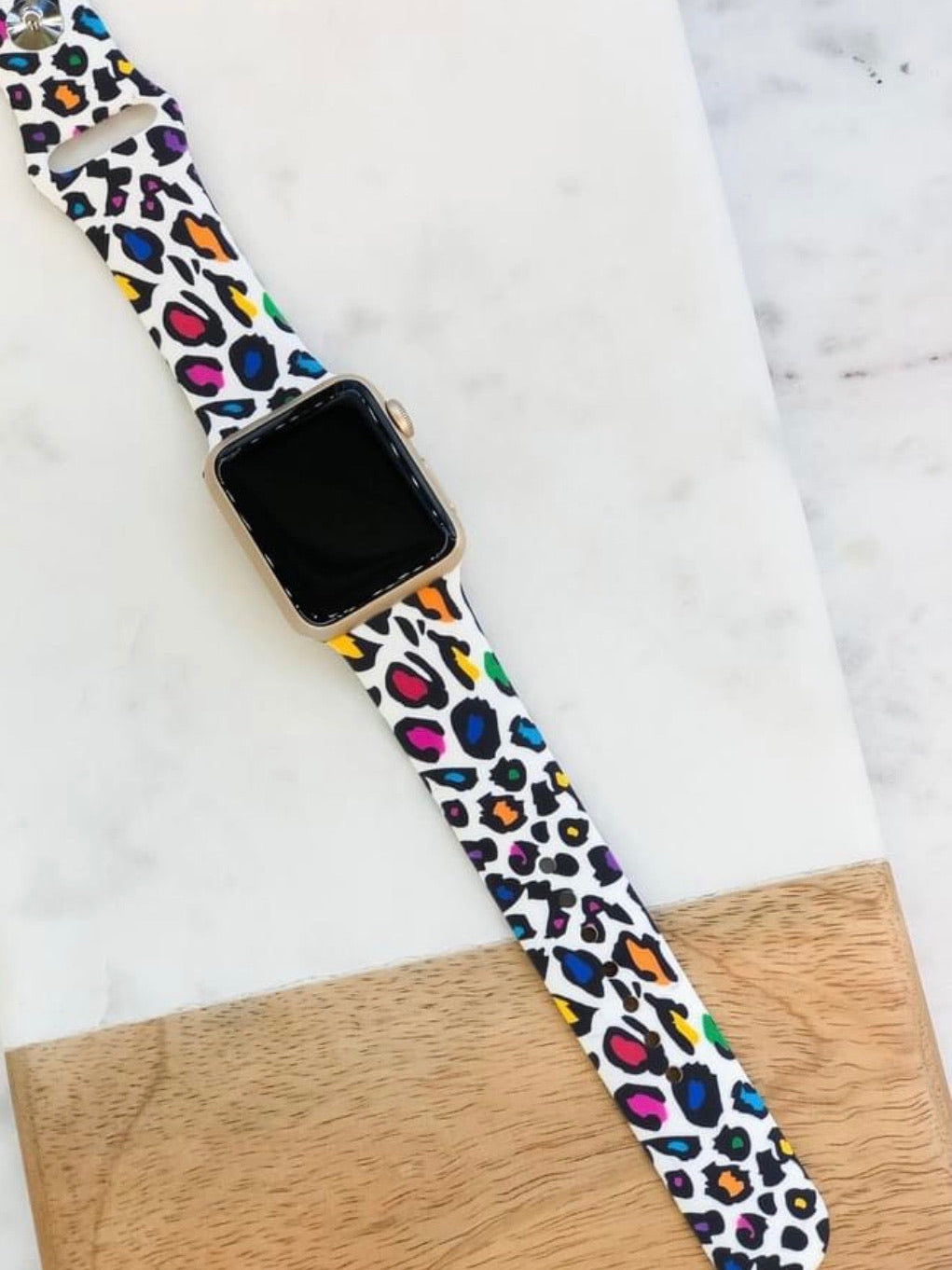 Multi  Leopard Apple Watch Band