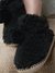 Pomp Pom Bootie Slippers Black