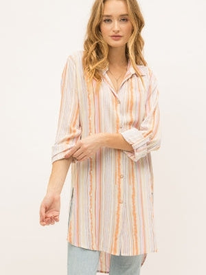 Going With The Flow Striped Tunic