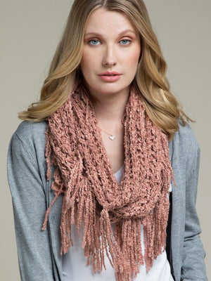Letting It Go Scarf, Blush