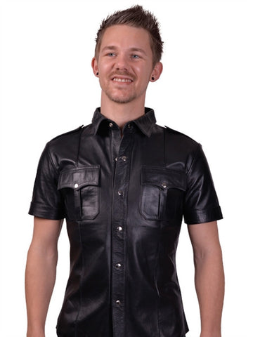 Mister B Leather Police Shirt S/Sleeved