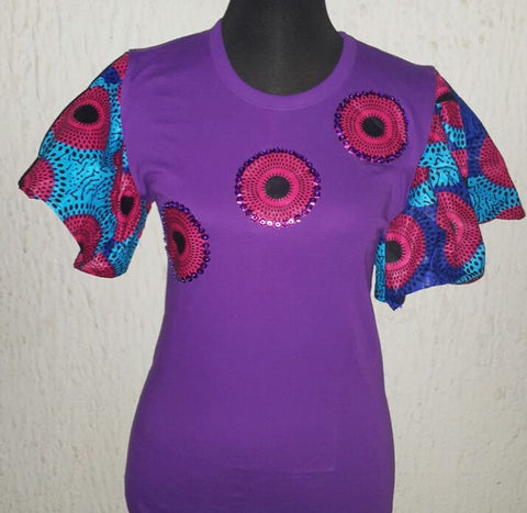 Purple Circles - Ankara Boutique