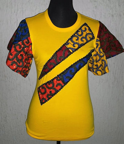 Yellow & Red Ankara Blouse - Ankara Boutique