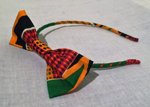 Ankara Headband With Bow - Ankara Boutique