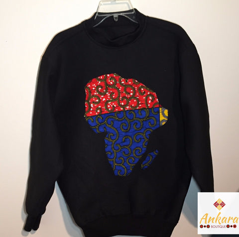 Ankara Map of Africa Sweatshirt - Ankara Boutique