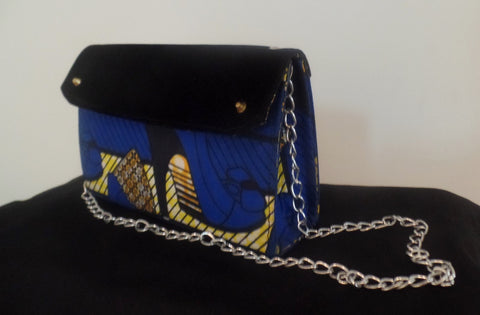 Blue Ankara Bag - Ankara Boutique