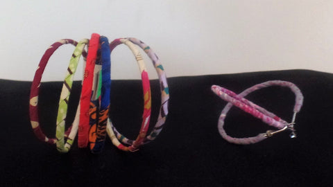 Bangle Bunch and Hoop Earrings - Ankara Boutique
