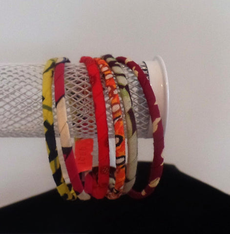 Assorted Bangle Bunch (6 for the price of 1) - Ankara Boutique