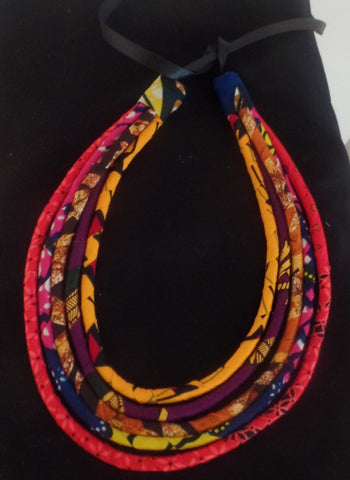 Five Strand Rope Necklace - Ankara Boutique