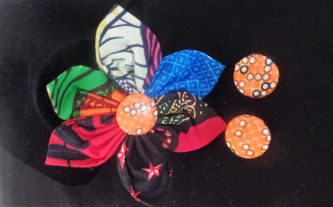 Brooch & Earring Set - Ankara Boutique