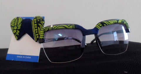 Ankara/African Fabric Sunglasses and Earring Set - Ankara Boutique