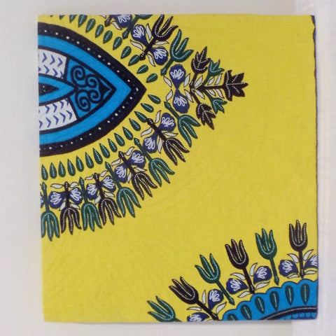 Blue & Yellow Dashiki Print Home/Wall Decor - Ankara Boutique
