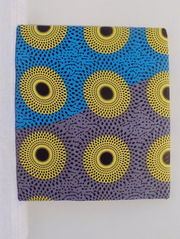 Yellow Disc African Print Home/Wall Decor - Ankara Boutique