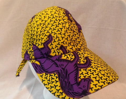 Purple Horse Ankara Baseball Cap - Ankara Boutique
