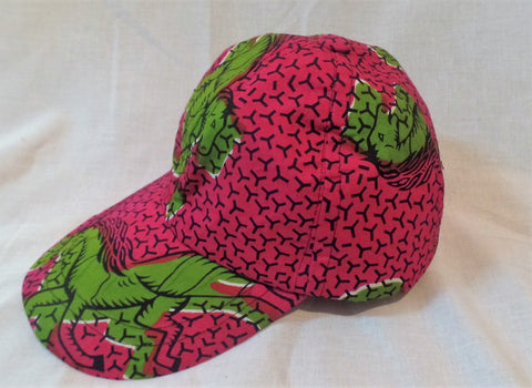 Lime Green Horse Ankara Baseball Cap - Ankara Boutique