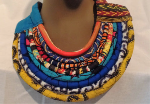 Tribal Statement Necklace - Ankara Boutique