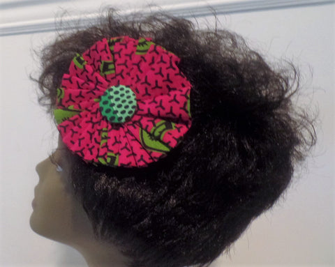 A Touch of Ankara Three Way Pin - Fuchsia - Ankara Boutique