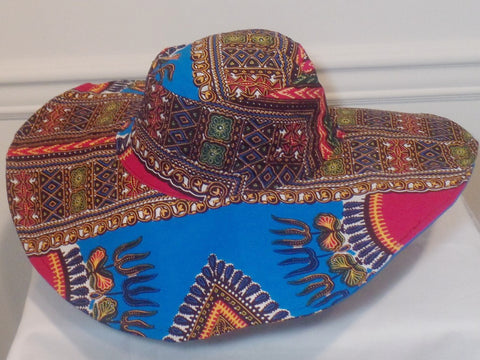 Ankara Wide Brim Sun Hat - Ankara Boutique