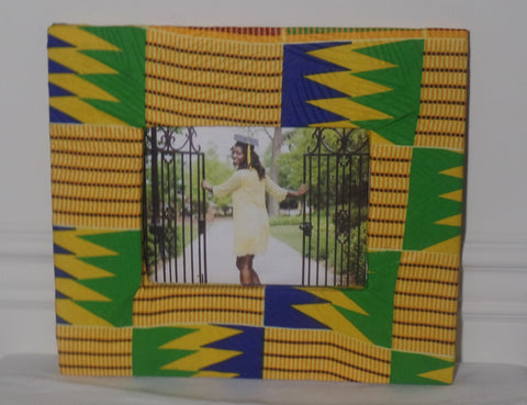 "Kente Print 5"" x 7' Photo Frame - Ankara Boutique"