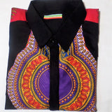 Dashiki/African Print Long Sleeve Shirt